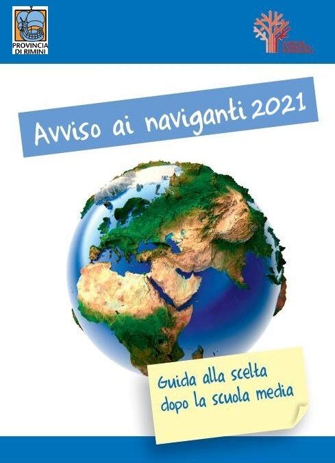 Avviso ai naviganti 2021 – Guida alla scelta dopo la scuola media – Materiale della Provincia di Rimini