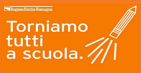 Regione Emilia-Romagna – Il 14 settembre riapre la scuola. L'impegno di tutti per la ripartenza più importante. Diamo forma a una nuova scuola. #torniamoascuolaER