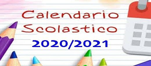 Rettifica calendario scolastico a.s. 2020/2021 – Inizio lezioni lunedì 14 settembre 2020