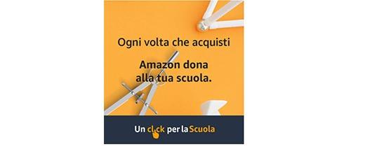 Raccolta punti Amazon – Partecipa a Un click per la Scuola, Amazon donerà il 2.5% della tua spesa a una scuola a tua scelta