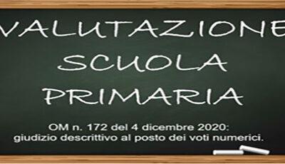 Consegna pagellino con valutazione intermedia – Scuola primaria 1° quadrimestre febbraio 2021