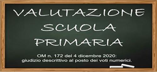 CIRCOLARE N. 108 – NUOVA VALUTAZIONE SCUOLA PRIMARIA – LINEE GUIDA E O.M. 172 DEL 4 DICEMBRE 2020- INDICAZIONI OPERATIVE.