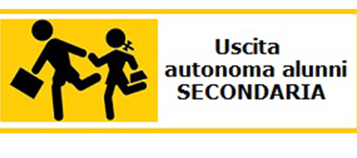 Uscita autonoma alunni scuola secondaria di I grado – a.s. 2019/2020